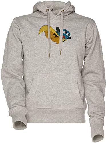 Valiente Pequeño Tostadora - Volar Lejos Unisexo Hombre Mujer Sudadera con Capucha Gris Men's Women's Hoodie Sweatshirt Grey