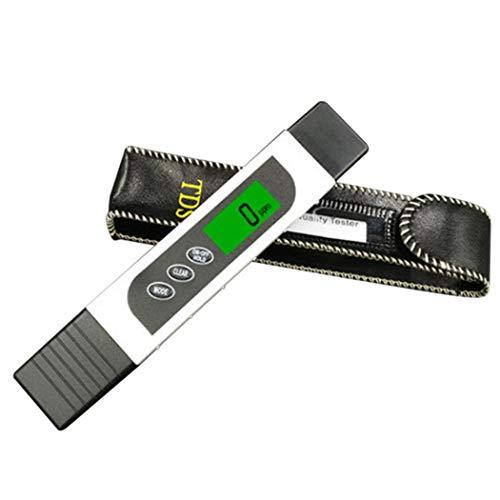 nulala 3-in-1-Digital-TDS-Messgerät, genauer Wasserqualitätstester, TDS, EC und Temperatur zwischen 0-9999 ppm Tragbares Wasserprüfgerät mit ATC für Trinkwasser, Aquarien, Wasser-Testkit (White)