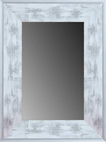 Lienzos Levante DA2101 – 7 – Miroir décoratif Bain/Accueil, 114 x 74 cm, Couleur Blanc et Argent