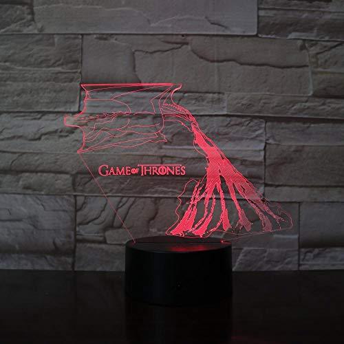 Speelhuisje wolf sterk ijs en vuur 7 kleuren 3D wijzigen LED nachtlampje slaapkamer decoratie licht kinderen cadeau