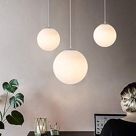 Lampe boule en verre Lustre Suspension intérieure simple Dia 15 CM pour Chambre Salon Couloir Restaurant Café 1Pcs