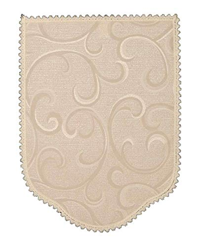 Chair Arm Covers Narrow, Regular and Wide and Chair Backs In a Jacquard Light Cream Vine Design. Quality Items Made in UK (Chair Backs (54241))