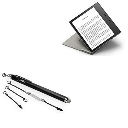 Caneta Stylus Amazon Kindle Oasis (3ª geração 2019), BoxWave [EverTouch Capacitive Stylus] Caneta Stylus capacitiva com ponta de fibra para Amazon Kindle Oasis (3ª geração 2019) - Preto