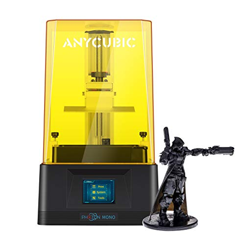 ANYCUBIC Photon Mono 3D Printer,Fast Printing UV LCD Resin Printer with 6 inch 2K Monochrome LCD, Dual Z-axis Linear Rail & Open Lid Detection,130x82x165mm Printing Size