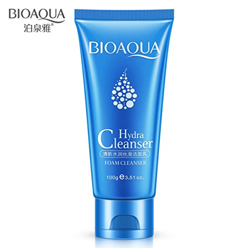 BIOAQUA Dense Foam Hydra Cleanser Face Gentle Softens Skin Silkiness Nourishing Moisturizing Refreshing 100G