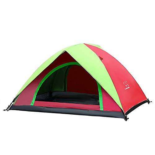 Rindasr Camping Zelt, vollautomatische Geschwindigkeitsoffene Doppelschicht im Freienzelt, PU wasserdicht Oxford Tuch 190T Schattierungsbeschichtung, Bergsteigen Angeln Strandzelt (Color : A)