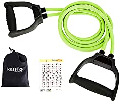 kossto Double Toning Resistance Tube Heavy Quality Exercise Band for Stretching, Full Body Workout, Home Gym and Toning...