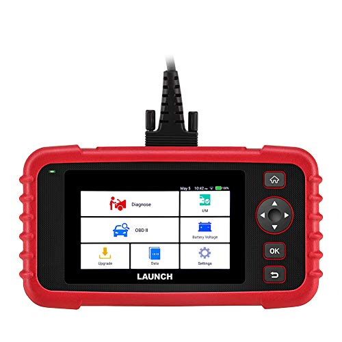 "LAUNCH Code Reader CRP123X OBD2 Scanner Scan Tool for ABS SRS Transmission Engine Code Reader Car Diagnostic Tool with Battery Test, Android 7.0 Based, 5.0"" Touchscreen, AutoVIN, Wi-Fi Free Updates"