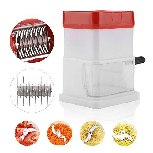 Tragbarer manueller Zerkleinerer, Edelstahl, Obst, Gemüse, Fleisch, Eis, Zerkleinerer, multifunktionaler Zerkleinerungsmaschine für Zuhause und Küche