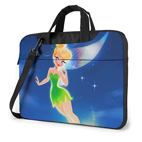 15.6 Inch Laptop Bag Tinkerbell Flying Laptop Briefcase Shoulder Messenger Bag Case Sleeve