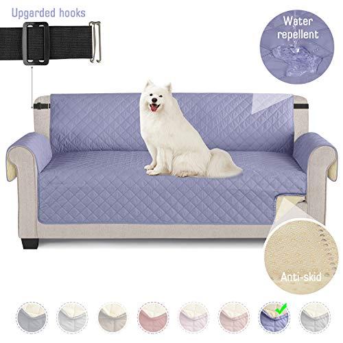 TAOCOCO Funda de sofá Impermeable Funda de cojín de protección para Mascotas Funda de sofá antisuciedad (Azul Claro/ 3 Plazas 165 * 190cm)
