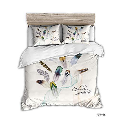 Artezxx Beddengoedset, dierveren, 100% zacht en aangenaam microvezel, slaapcomfort, 1 dekbedovertrek met ritssluiting + 2 kussenslopen voor de slaapkamer
