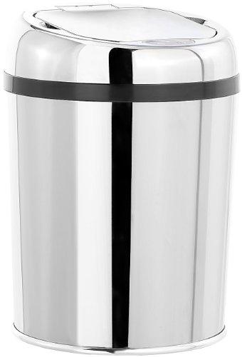 infactory Sensor Mülleimer: Abfalleimer mit Hand-Bewegungssensor und Edelstahl-Korpus, 3 Liter (Kosmetikeimer)