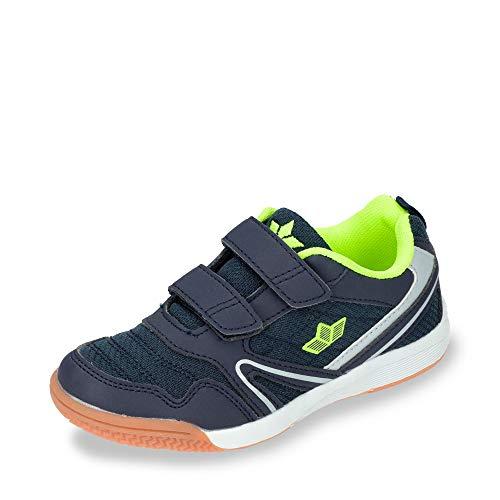 Lico Unisex Boulder V Multisport Indoor Schuhe, Marine/Lemon, 37 EU