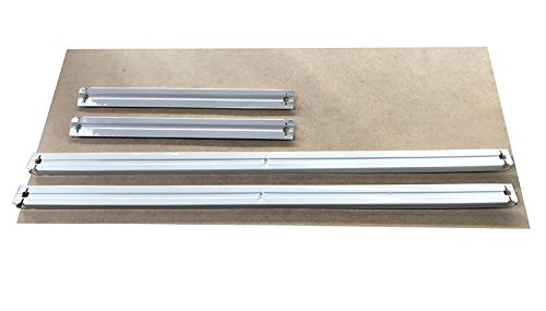 HDF Boden 90 x 30 cm mit Traversen in weiß als Zusatzboden oder Ersatzboden für Schwerlastregal Stecksystem: Metallregal geeignet als Kellerregal, Lagerregal, Archivregal, Ordnerregal, Werkstattregal