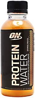 Optimum Nutrition Protein Water RTD Bottles, Orange, 16 Ounce, 12 Pack