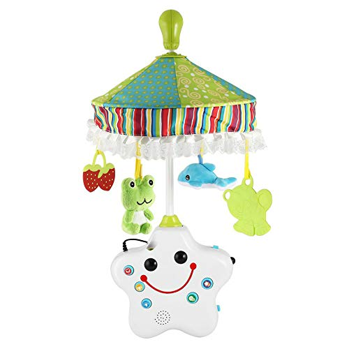 Mryishao Hochet de litBaby Rasseln Projektion Krippe Musical Mobile Baby Boy & Girl Bettwäsche Rassel Spielzeug Musik Bett Ring Krippe Glocke Mit