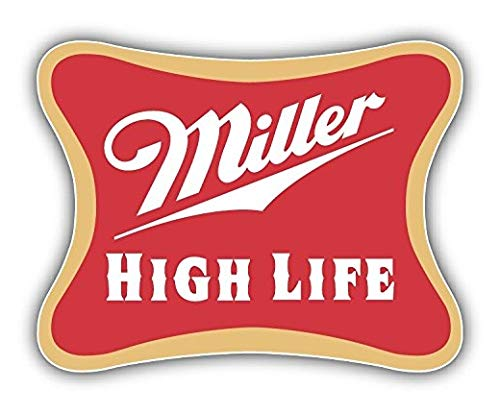 Miller High Life Logo - 5 Inch Sticker Graphic - Auto Wall Laptop Cell phone Bumper Window Decal Sticker