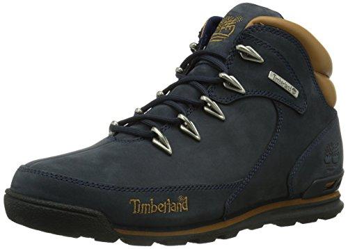 Timberland Euro Rock Hiker, Botas Hombre, Azul Medium Blue Nubuck, 42 EU