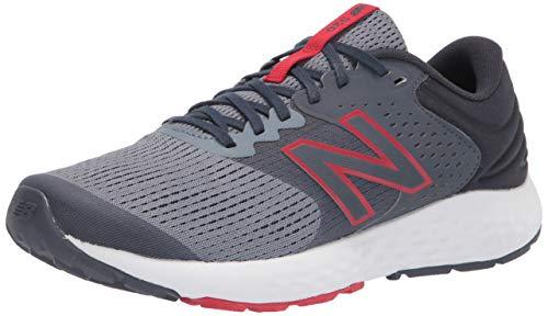 New Balance Men's 520 V7 Running Shoe, Grey/Red, 10.5