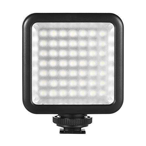 Andoer Mini LED Luz, Luz de Video LED 49 Regulable para Estudio Fotografía, Lámpara LED de vídeo para cámara Canon Nikon y videocámara
