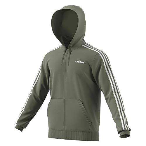 adidas Herren Essentials 3-Streifen Full-Zip Trainingsjacke, Legacy Green, XL