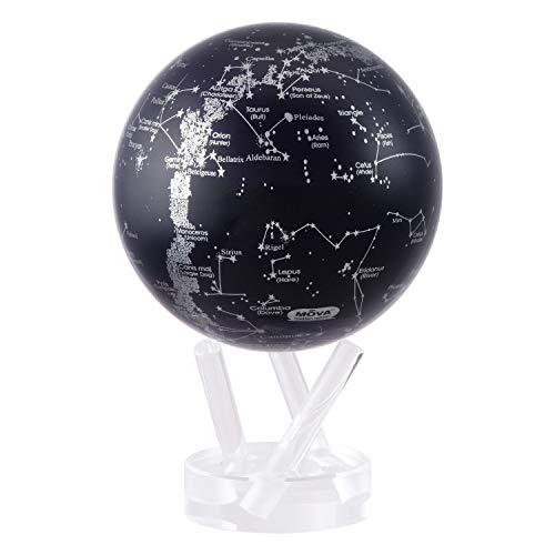 Mova Constellations Globus Schwarz und Silber, 11,4 cm