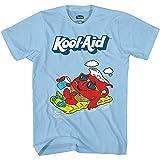 Kool-Aid Boys Oh Yeah Shirt Drink Mix Man Oh Yeah Graphic T-Shirt (Sky Blue, Large)