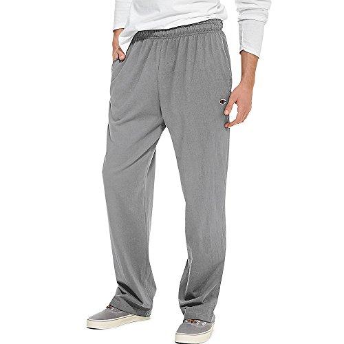 Champion - Pantalón de punto ligero para hombre, Pantalón de punto ligero con parte inferior abierta, XXL, Negro