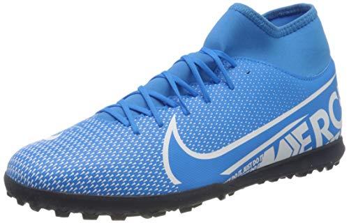 Nike Mercurial Superfly 7 Club Tf, Scarpe da Calcio Unisex-Adulto, Multicolore (Blue Hero/White/Obsidian 414), 46 EU