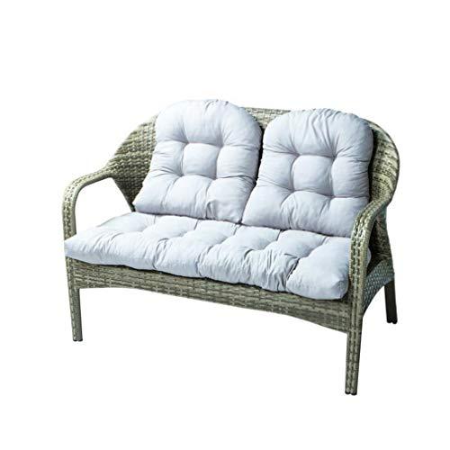 Yzzlh - Cojín grueso para tumbonas con 2 cojines de respaldo, cojín suave para jardín, patio, sillón reclinable y acolchado, antideslizante, para viajes en interiores y exteriores, color gris