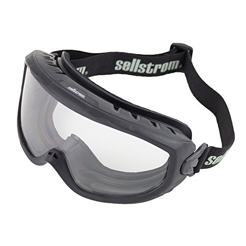 Sellstrom Safety Goggles – Wildland Fire OTG Eye Protection, S80225, Anti Fog, Scratch Resistant, Protective Eye Shield for Men and Women with Clear Lens, Adjustable Strap, Black Frame