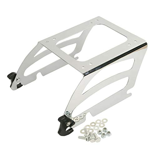 TCMT Chrome Solo Tour Pack Luggage Rack Mount Fits For Harley Softail FLST 2000-2005