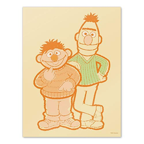 GRAPHICS & MORE Sesame Street Bert and Ernie Distressed Home Business Office Sign