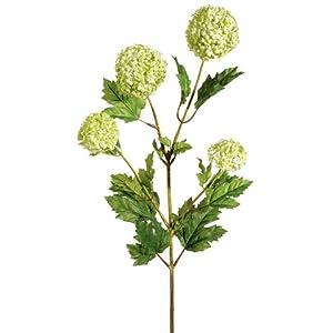 33″ Silk Snowball Flower Spray -Green (Pack of 6)