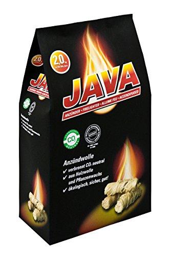 JAVA Kaminanzünder/Grillanzünder/Ökologischer Anzünder/Anzündwolle (2 kg)