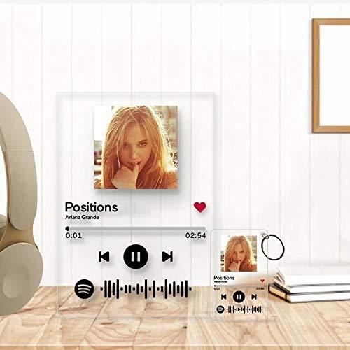 Placa Código Spotify de Canción Tablero Álbum de Música (con fondo)Regalo para Valentina Cumpleaños Aniversario