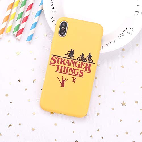 LvShui Funda iPhone 5 / iPhone 5S / iPhone SE Funda Carcasa Stranger Things Caricatura Silicona Case Cover para Apple iPhone 5 / 5S / SE