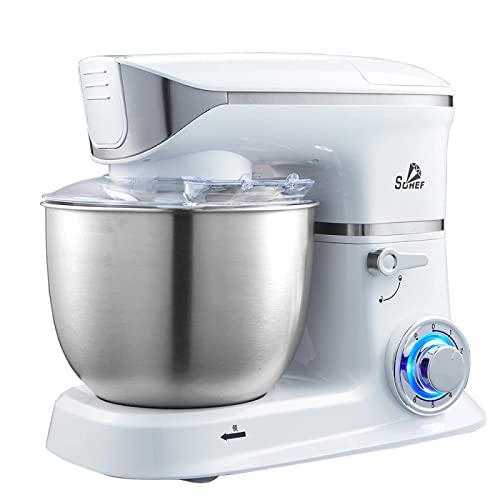 MOSHUO Máquina de Chef batidora de Huevos multifunción amasadora batidora de Crema máquina de Leche Fresca hogar batidora de Masa de 5 litros