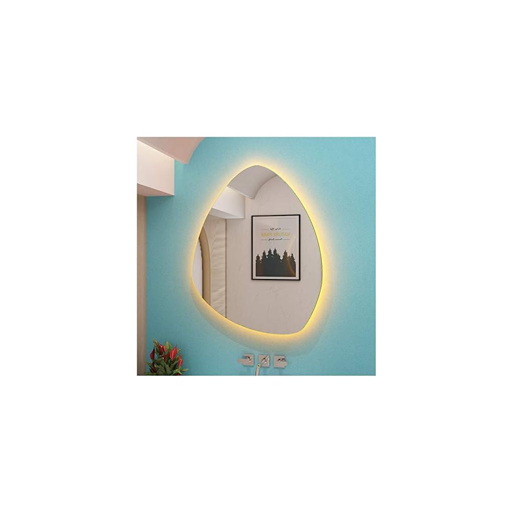 FYTVHVB Miroir de lumière LED en Forme de Goutte d'eau Nordique,Miroir décoratif de Chambre à Coucher sans Cadre…