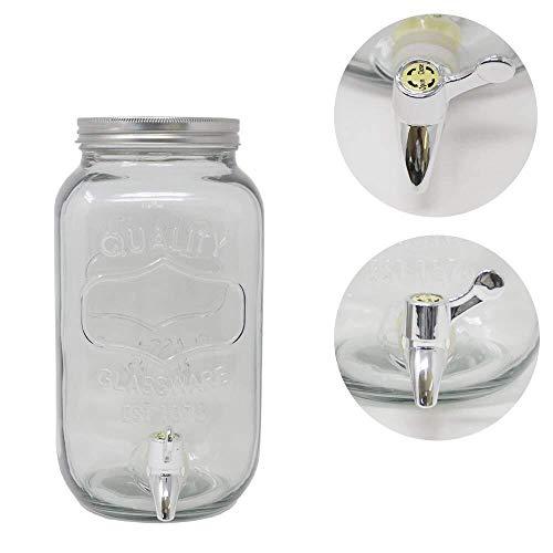 DRULINE 2 Stück 3,5 Liter Getränkespender Glance mit Hahn Saftspender Dispenser