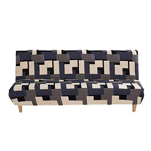 Wood.L Fundas Sofa Sin Brazos Elasticas Plegable Fabric Poliéster Spandex Cubre Sofa Sin Reposabrazos,Extraíbles Y Lavables,Fundas Protector para Sofa Cama Fundas De Clic-clac Elástica