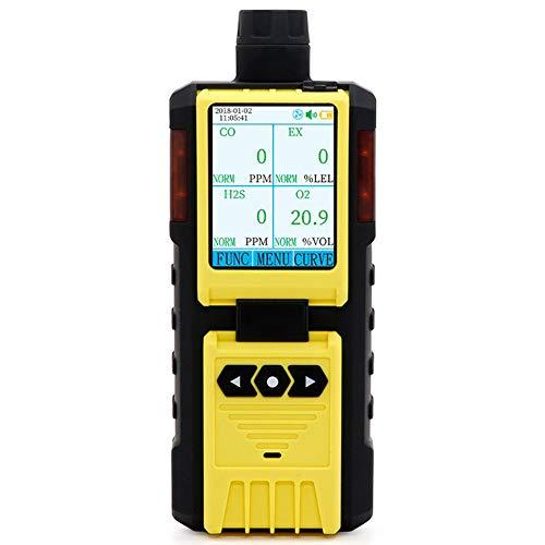 AKAKKSKY Gasmelder O2, CO, H2S, UEG Messgerät überwachen Sound Light Vibrationsalarme Eingebaute Pumpe Messung Digital/Kurve Farbbildschirm Alarmpunkteinstellung