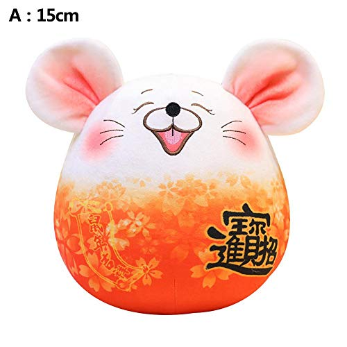 BaofuFacai Plush Rat, Stuffed Mouse Pillow Lovely Fat Grey Rat Pillow,Cute Plush Hamster with A Peanut,Plush Toys Cute Doll Mouse Plush Toys