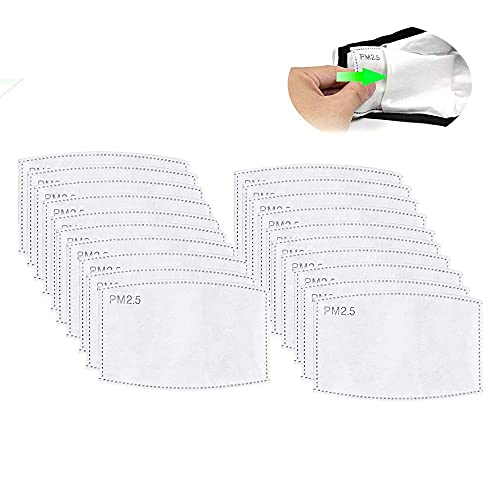 Activated carbon filters for face mask, PM2.5 activated carbon filter 5 layers of replaceable inserts protection filters (150 pcs)