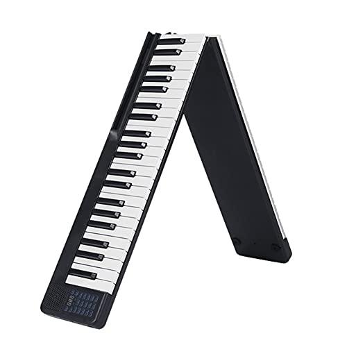 Tomshin Piano portátil de 88 teclas dobrável Piano Digital Multifuncional Piano Teclado Eletrônico para Aluno de Piano Instrumento Musical