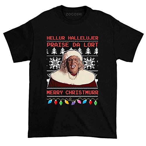 Madea Hellur Hallelujer Praise Da Lort Merry Christmas Tshirt