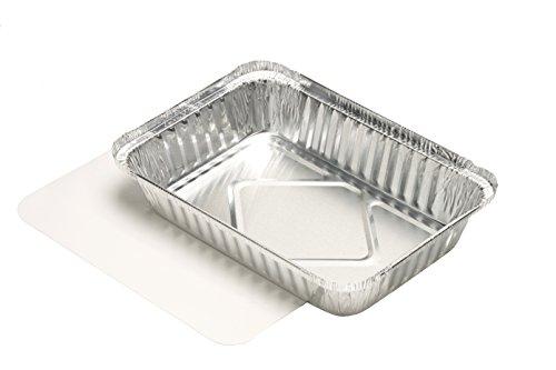 PAPSTAR Aluschalen, Aluminium, Silber, 10.5 x 15.7 x 22.2 cm