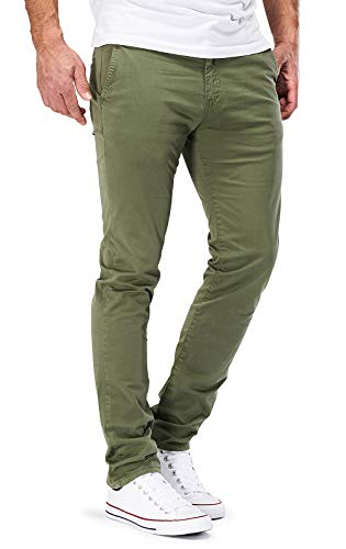 DSTROYED ® Chino Herren Slim fit Chinohose Stretch Designer Hose Neu 505 (34-32, 505 Oliv)