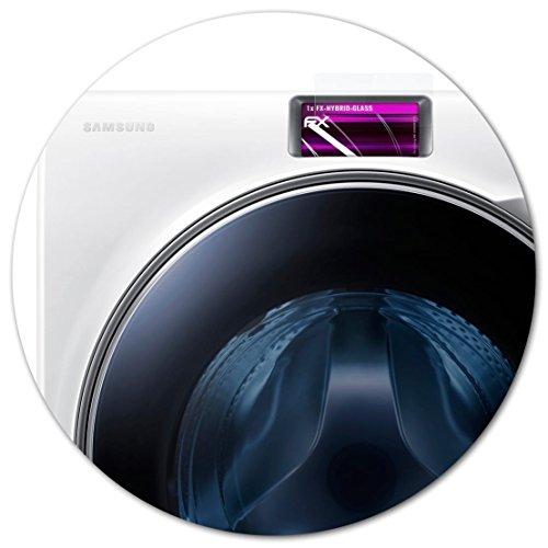 atFoliX Glasfolie kompatibel mit Samsung WW10H9600EW/EG Panzerfolie, 9H Hybrid-Glass FX Schutzpanzer Folie